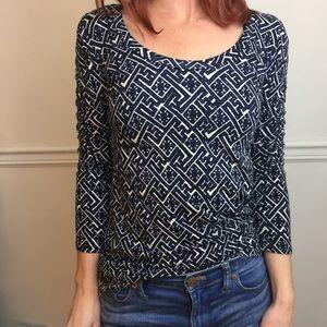 Dolan Anthro Printed Stretch Casual Shirt Top